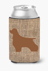 Cocker Spaniel Burlap and Brown Can or Bottle Beverage Insulator Hugger - the-store.com