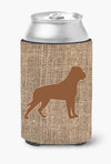 Buy this Rottweiler Burlap and Brown Can or Bottle Beverage Insulator Hugger