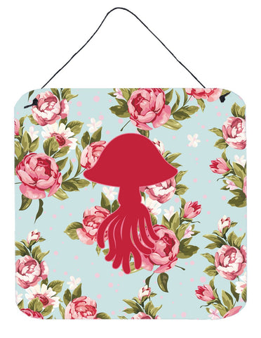 Buy this Jellyfish Shabby Chic Blue Roses Wall or Door Hanging Prints BB1089