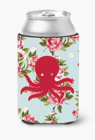 Buy this Octopus Shabby Chic Blue Roses Can or Bottle Beverage Insulator Hugger BB1090