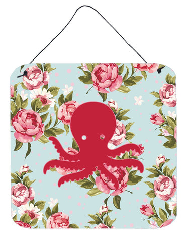 Buy this Octopus Shabby Chic Blue Roses Wall or Door Hanging Prints BB1090