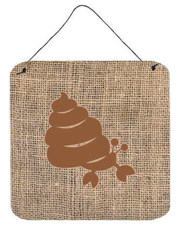Buy this Hermit Crab Burlap and Brown Aluminium Metal Wall or Door Hanging Prints BB1092