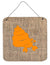 Buy this Hermit Crab Burlap and Orange Wall or Door Hanging Prints BB1092