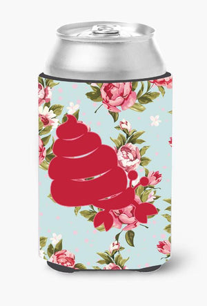 Buy this Hermit Crab Shabby Chic Blue Roses Can or Bottle Beverage Insulator Hugger BB1092
