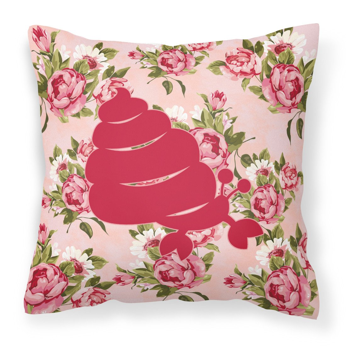 Buy this Hermit Crab Shabby Chic Pink Roses  Fabric Decorative Pillow BB1092-RS-PK-PW1414