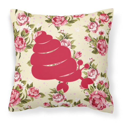 Buy this Hermit Crab Shabby Chic Yellow Roses  Fabric Decorative Pillow BB1092-RS-YW-PW1414