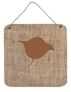 Buy this Stingray Burlap and Brown Aluminium Metal Wall or Door Hanging Prints BB1094