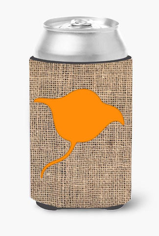 Buy this Stingray Burlap and Orange Can or Bottle Beverage Insulator Hugger