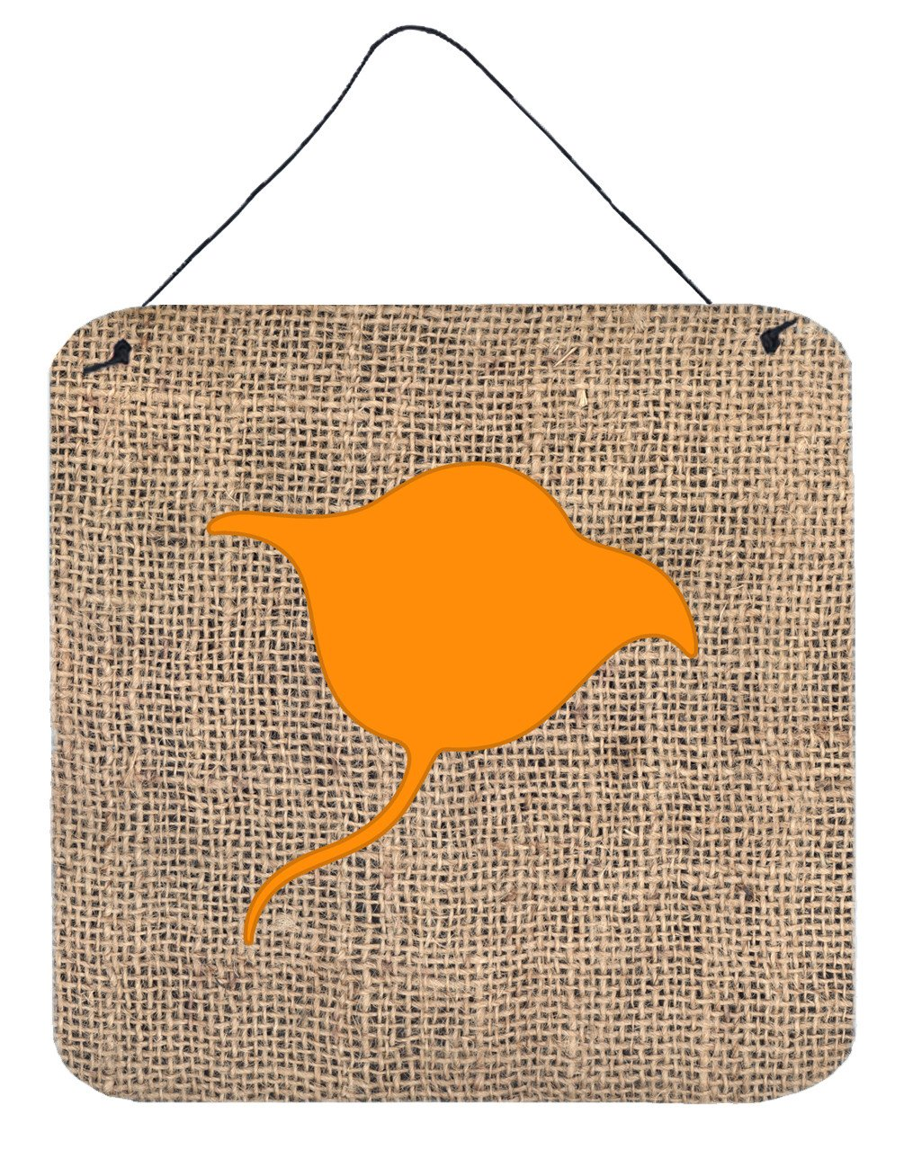 Buy this Stingray Burlap and Orange Aluminium Metal Wall or Door Hanging Prints BB1094