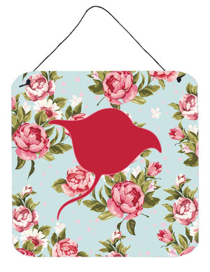 Buy this Stingray Shabby Chic Blue Roses Wall or Door Hanging Prints BB1094