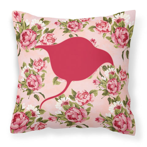 Buy this Stingray Shabby Chic Pink Roses  Fabric Decorative Pillow BB1094-RS-PK-PW1414