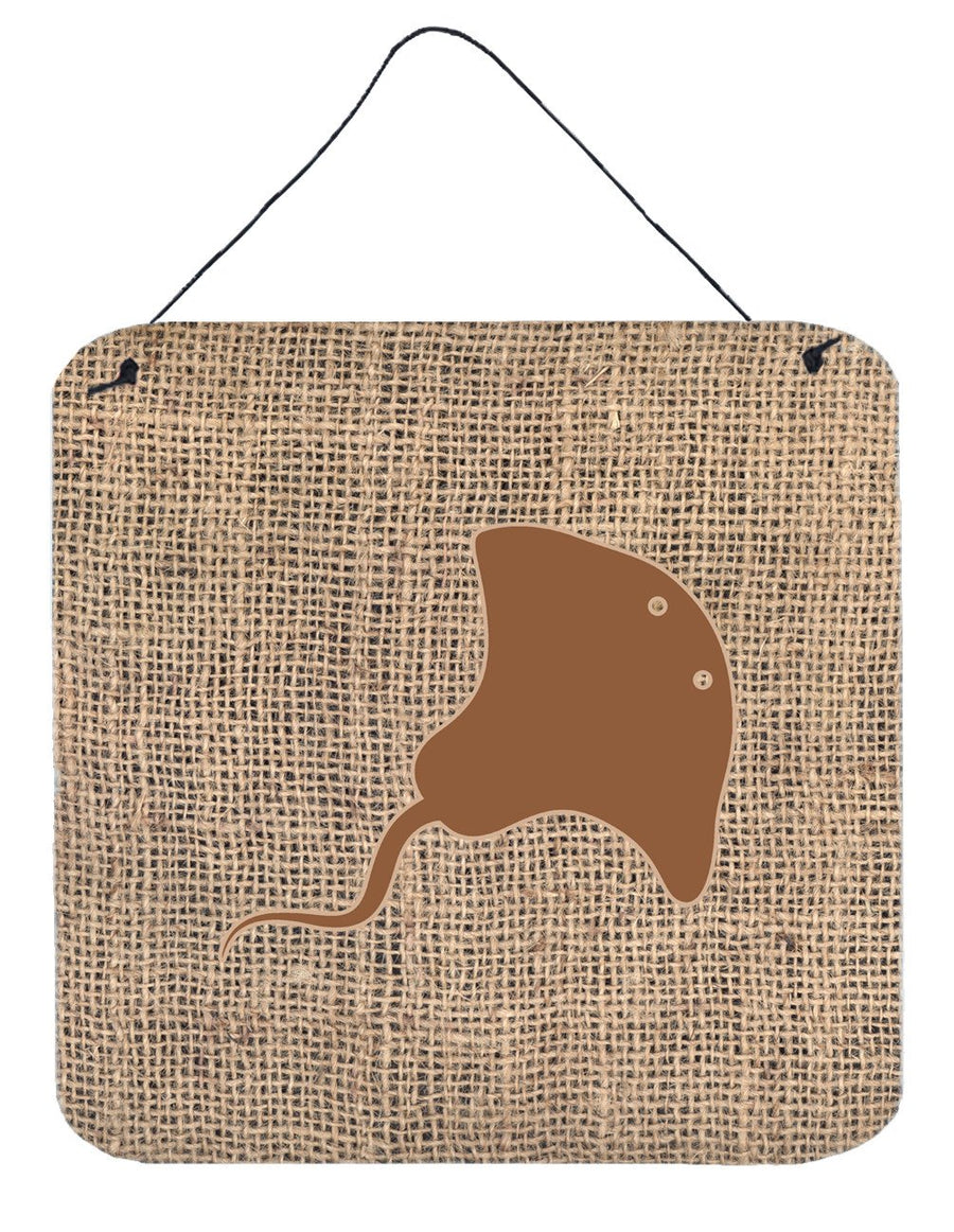Buy this Stingray Burlap and Brown Aluminium Metal Wall or Door Hanging Prints BB1095
