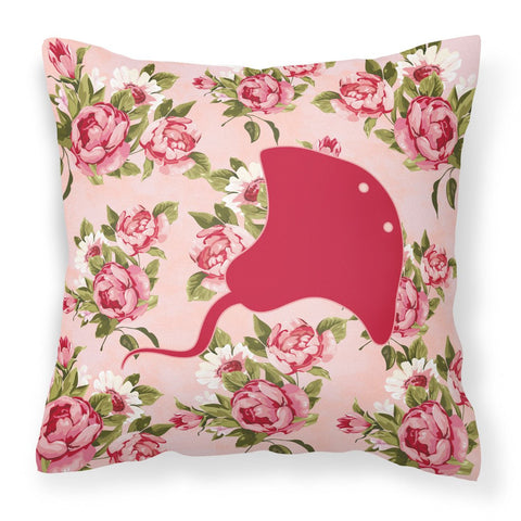 Buy this Stingray Shabby Chic Pink Roses  Fabric Decorative Pillow BB1095-RS-PK-PW1414