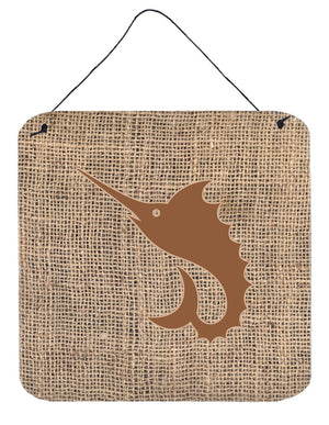 Buy this Fish - Sword Fish Burlap and Brown Wall or Door Hanging Prints BB1097