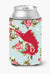 Buy this Fish - Sword Fish Shabby Chic Blue Roses Can or Bottle Beverage Insulator Hugger BB1097