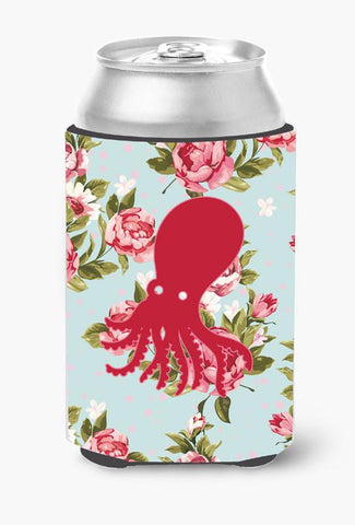 Buy this Octopus Shabby Chic Blue Roses Can or Bottle Beverage Insulator Hugger BB1098