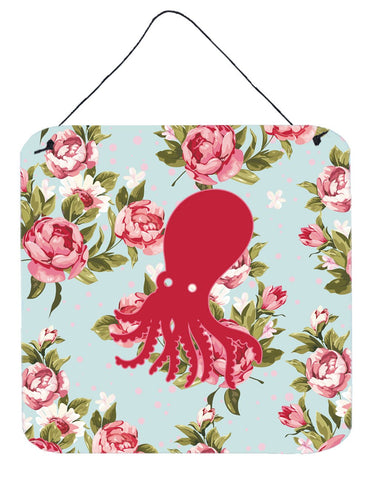 Buy this Octopus Shabby Chic Blue Roses Wall or Door Hanging Prints BB1098