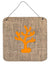 Coral Burlap and Orange Aluminium Metal Wall or Door Hanging Prints BB1101 - the-store.com