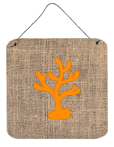 Buy this Coral Burlap and Orange Aluminium Metal Wall or Door Hanging Prints BB1101