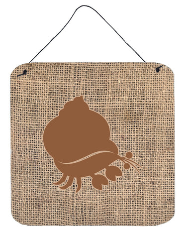 Buy this Hermit Crab Burlap and Brown Aluminium Metal Wall or Door Hanging Prints BB1102