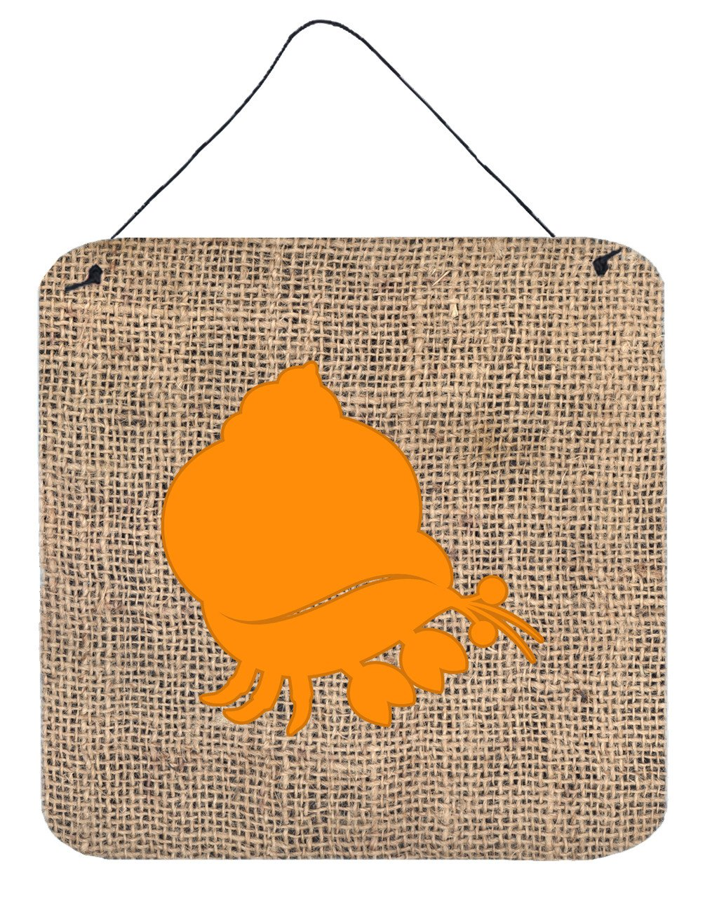 Buy this Hermit Crab Burlap and Orange Wall or Door Hanging Prints BB1102