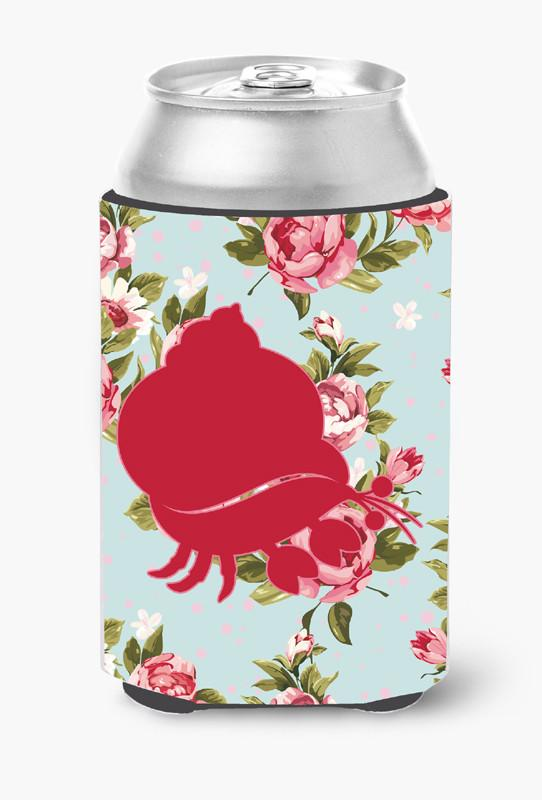Buy this Hermit Crab Shabby Chic Blue Roses Can or Bottle Beverage Insulator Hugger BB1102