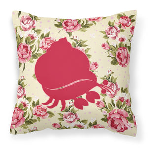 Buy this Hermit Crab Shabby Chic Yellow Roses  Fabric Decorative Pillow BB1102-RS-YW-PW1414