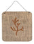 Coral Burlap and Brown Aluminium Metal Wall or Door Hanging Prints BB1103 - the-store.com