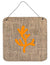 Coral Burlap and Orange Aluminium Metal Wall or Door Hanging Prints BB1103 - the-store.com