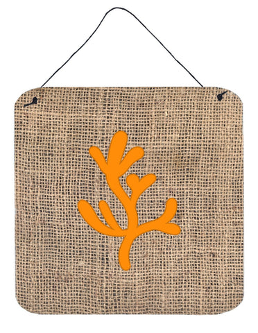 Buy this Coral Burlap and Orange Aluminium Metal Wall or Door Hanging Prints BB1103