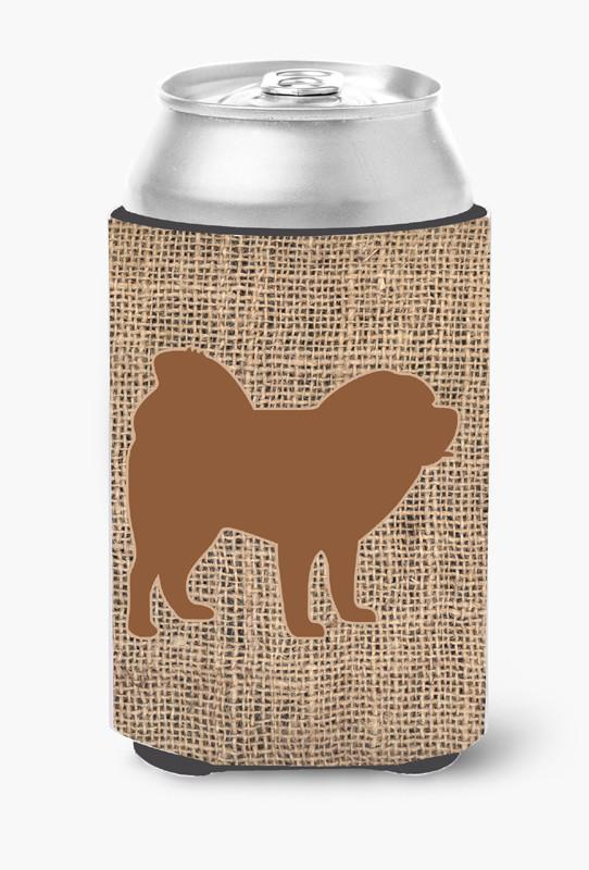 Chow Chow Burlap and Brown Can or Bottle Beverage Insulator Hugger by Caroline's Treasures
