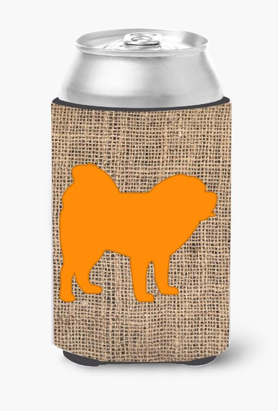 Chow Chow Burlap and Orange Can or Bottle Beverage Insulator Hugger BB1106 by Caroline's Treasures
