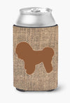 Bichon Frise Burlap and Brown Can or Bottle Beverage Insulator Hugger by Caroline's Treasures