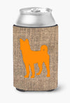 Buy this Basenji Burlap and Orange Can or Bottle Beverage Insulator Hugger BB1110