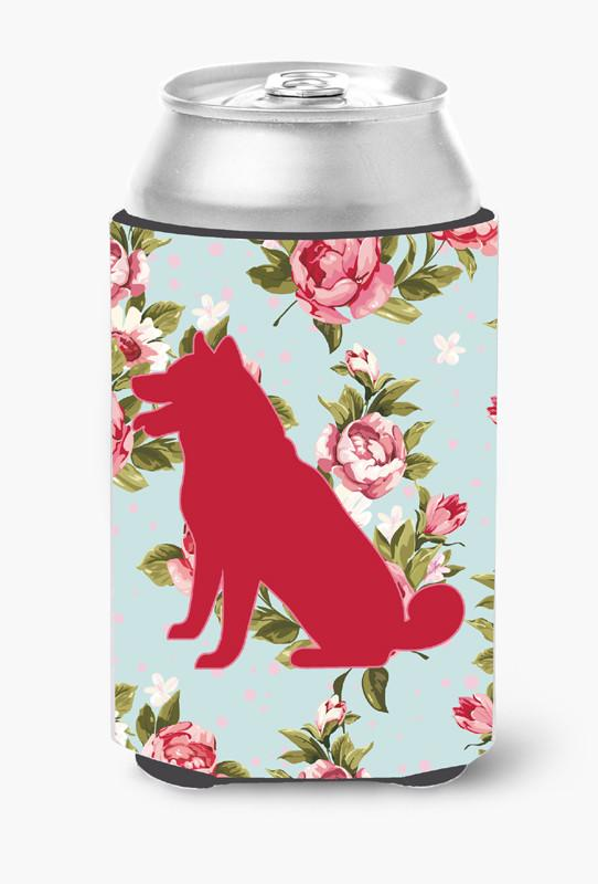 Shiba Inu Shabby Chic Blue Roses Can or Bottle Beverage Insulator Hugger BB1113 by Caroline's Treasures