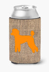 Poodle Burlap and Orange Can or Bottle Beverage Insulator Hugger BB1114 by Caroline's Treasures