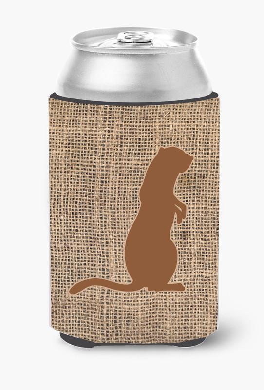 Buy this Meerkat Burlap and Brown Can or Bottle Beverage Insulator Hugger