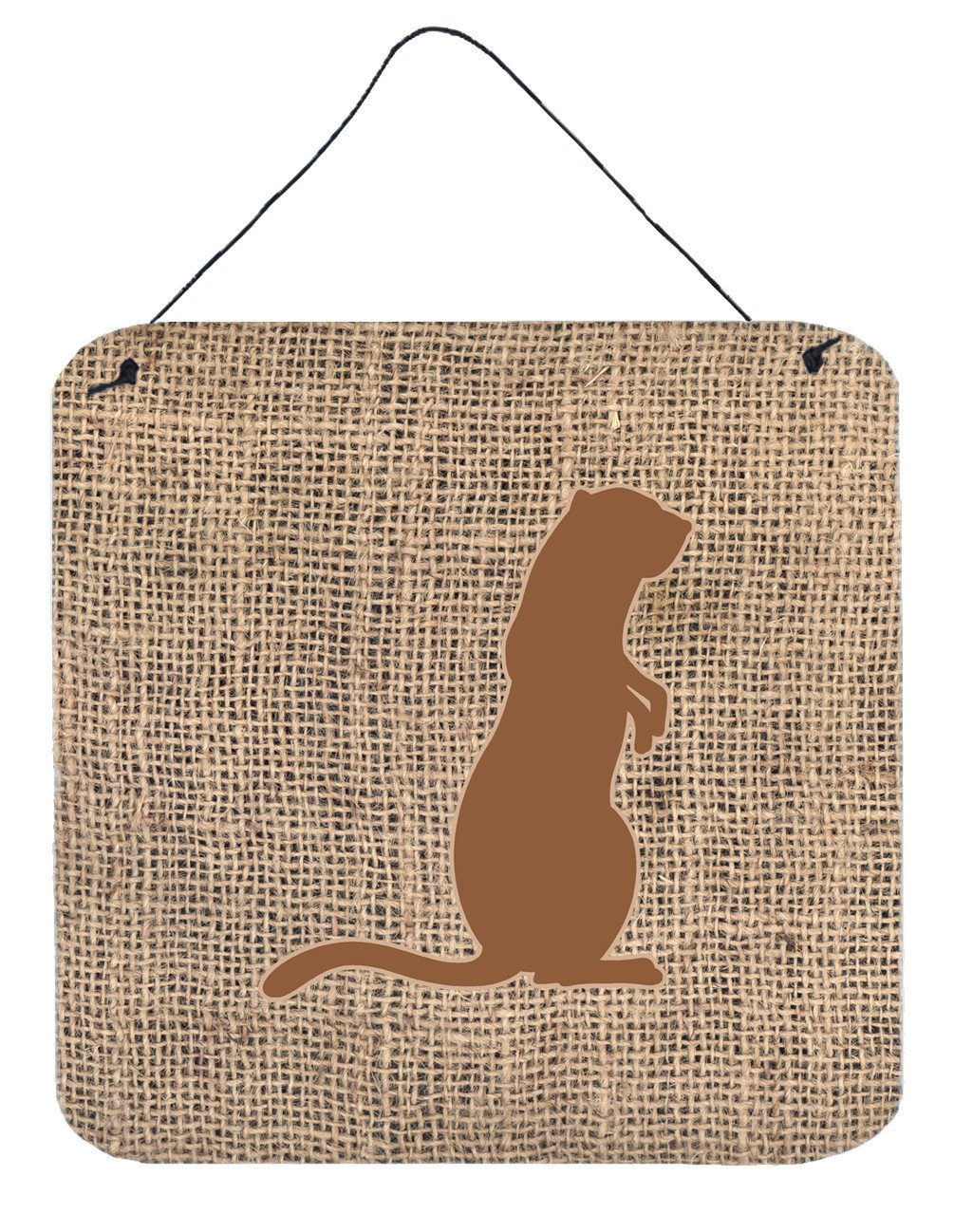 Buy this Meerkat Burlap and Brown Aluminium Metal Wall or Door Hanging Prints BB1118