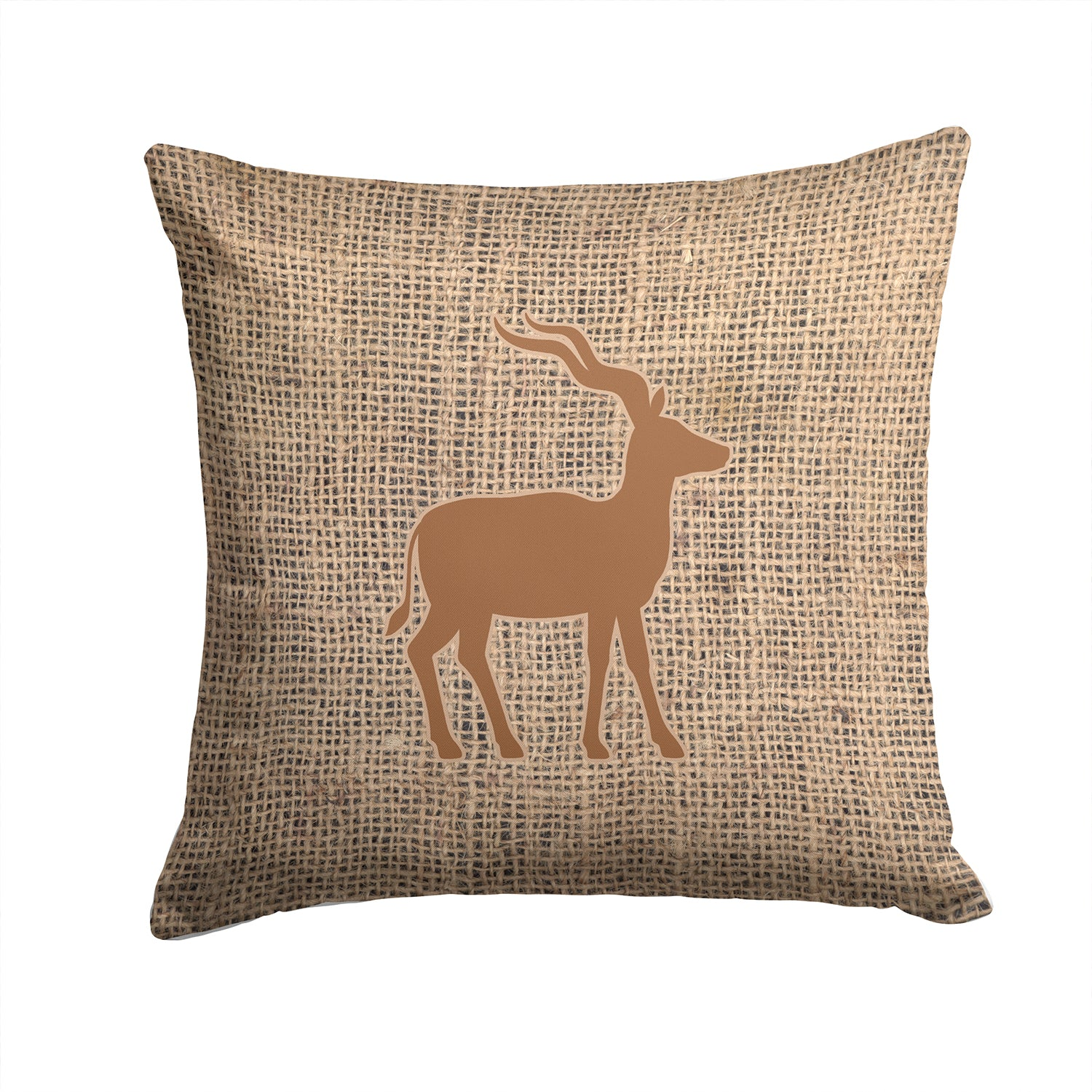 Buy this Deer Burlap and Brown   Canvas Fabric Decorative Pillow BB1121