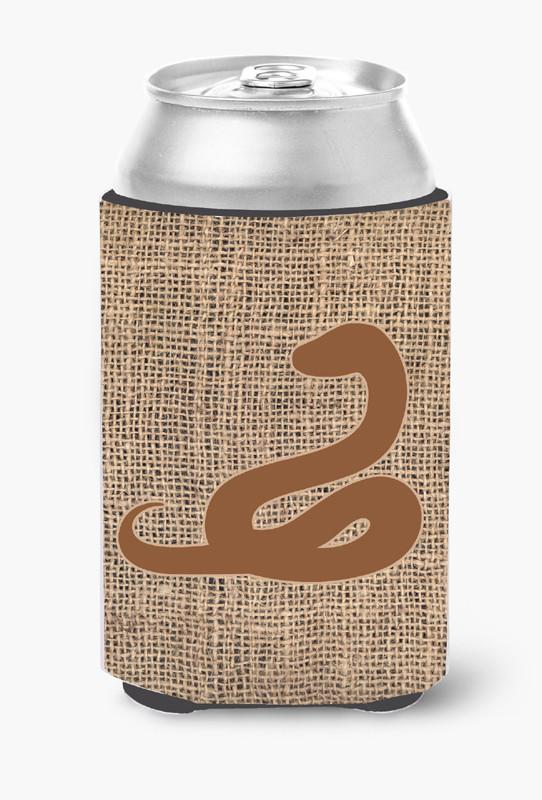 Buy this Snake Burlap and Brown Can or Bottle Beverage Insulator Hugger