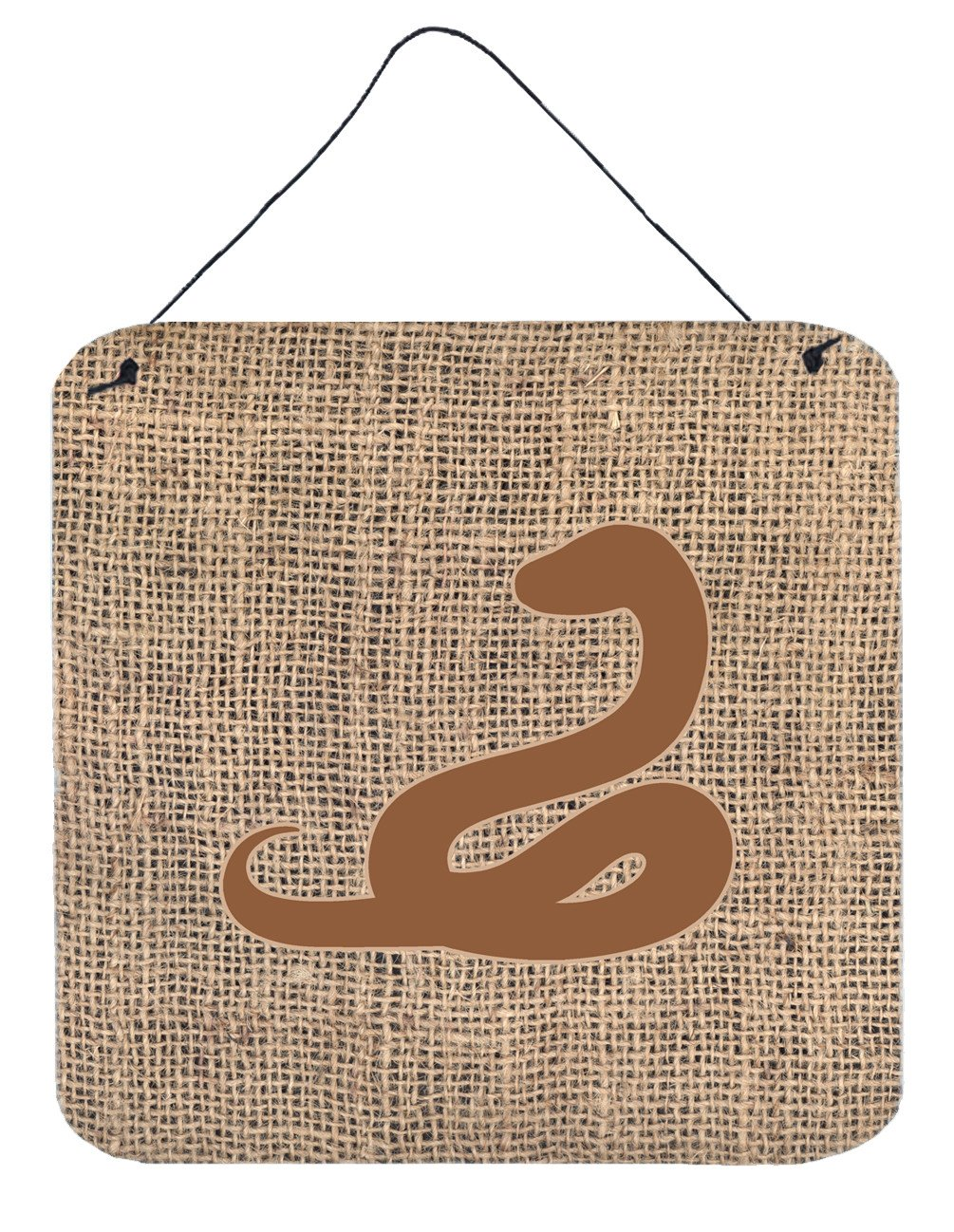 Buy this Snake Burlap and Brown Aluminium Metal Wall or Door Hanging Prints BB1124