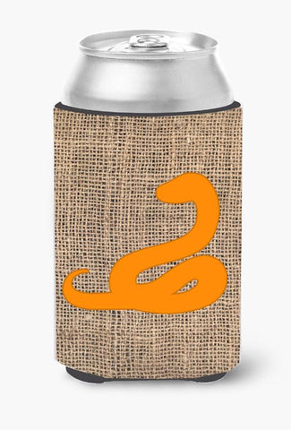 Buy this Snake Burlap and Orange Can or Bottle Beverage Insulator Hugger