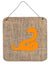 Buy this Snake Burlap and Orange Aluminium Metal Wall or Door Hanging Prints BB1124