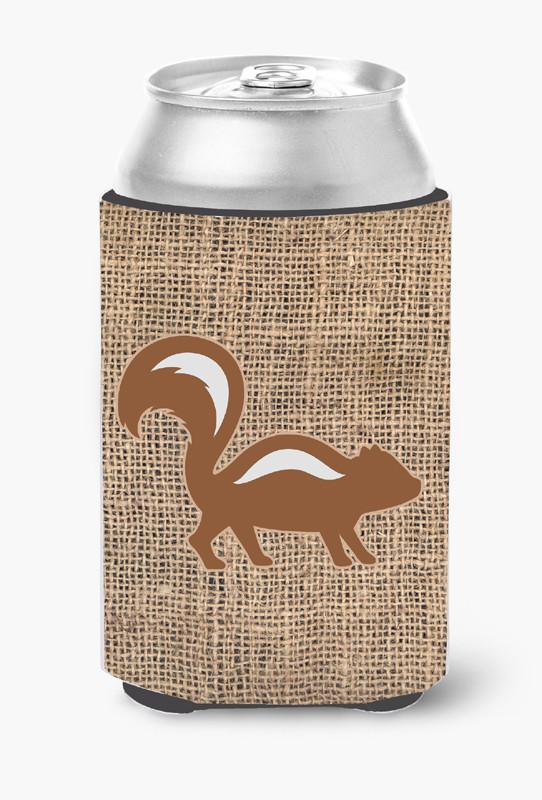 Buy this Skunk Burlap and Brown Can or Bottle Beverage Insulator Hugger