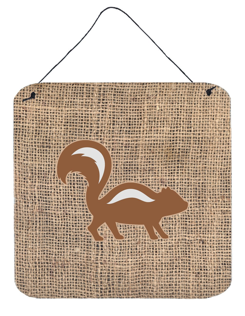 Buy this Skunk Burlap and Brown Aluminium Metal Wall or Door Hanging Prints BB1125