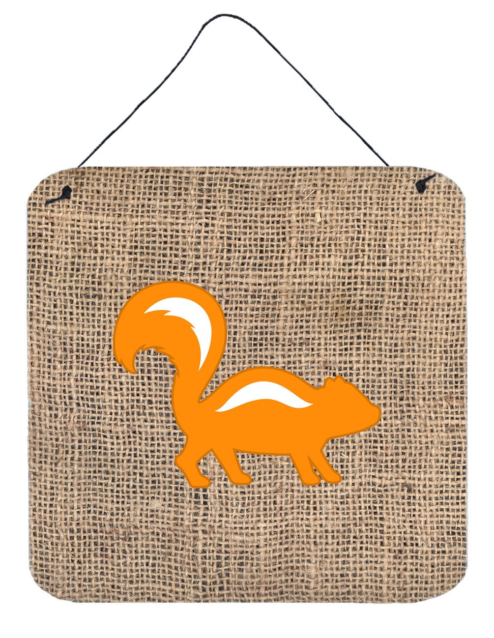 Buy this Skunk Burlap and Orange Aluminium Metal Wall or Door Hanging Prints BB1125