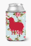 Buy this Sheep Shabby Chic Blue Roses Can or Bottle Beverage Insulator Hugger BB1126