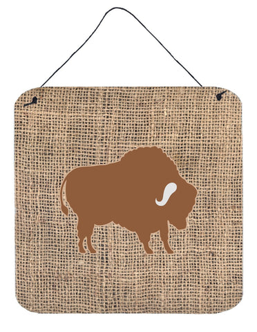 Buy this Buffalo Burlap and Brown Aluminium Metal Wall or Door Hanging Prints BB1127