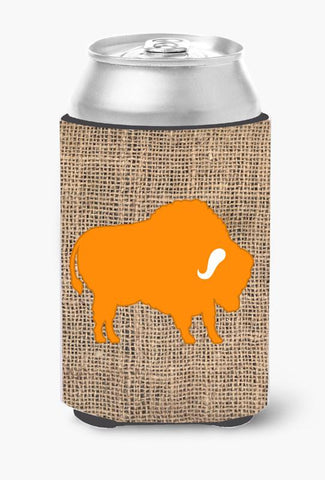 Buy this Buffalo Burlap and Orange Can or Bottle Beverage Insulator Hugger