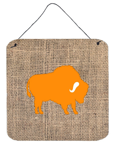 Buy this Buffalo Burlap and Orange Aluminium Metal Wall or Door Hanging Prints BB1127
